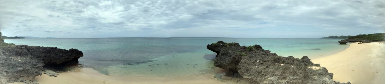 石垣島北部、平久保のビーチ