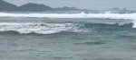 台風25号通過後の米原ビーチ -20181005