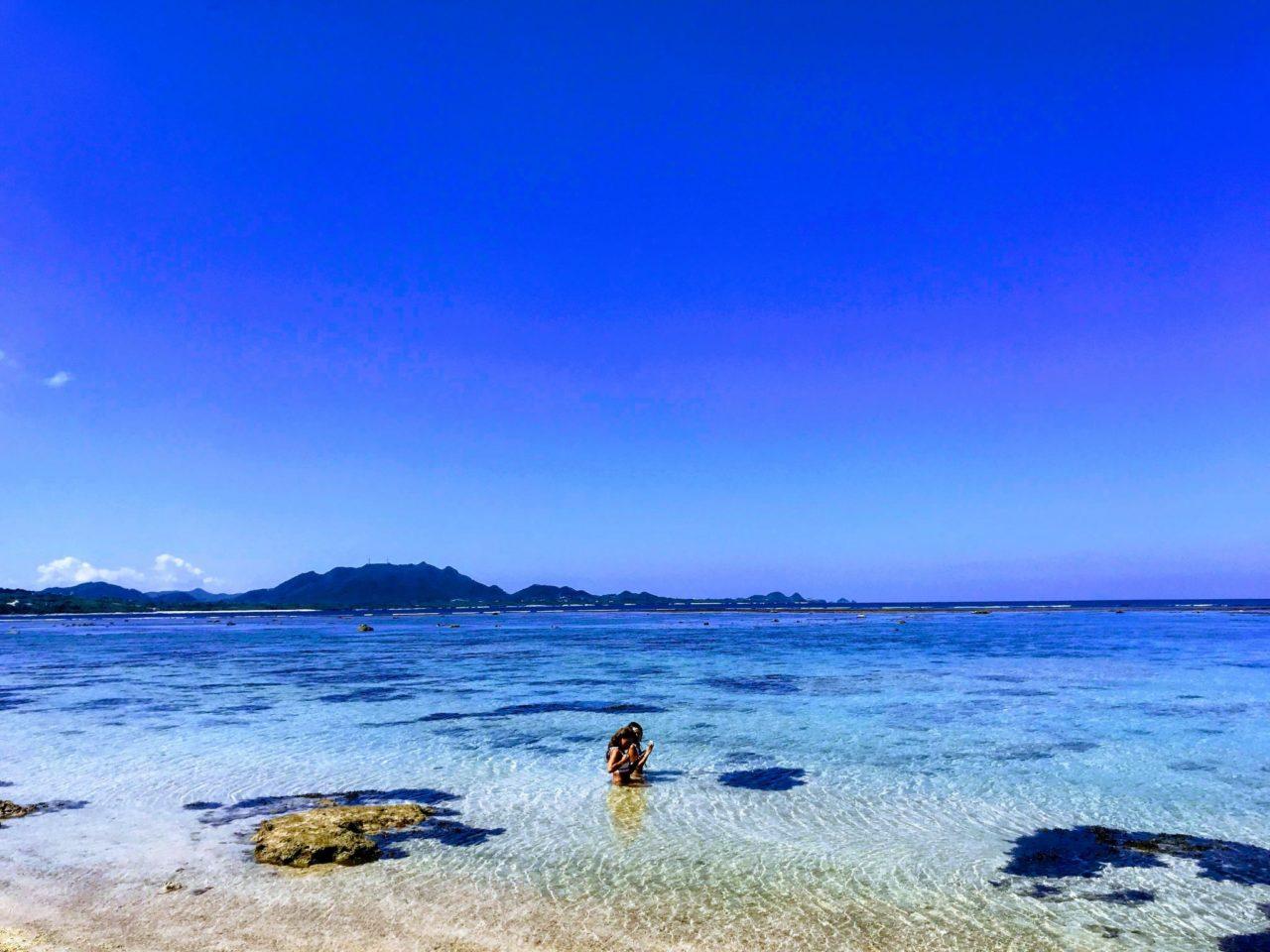快晴の米原ビーチ