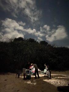 米原ビーチで浜呑み中