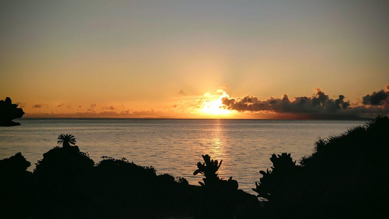 西表島中野海岸の夜明け(2021.08.25)